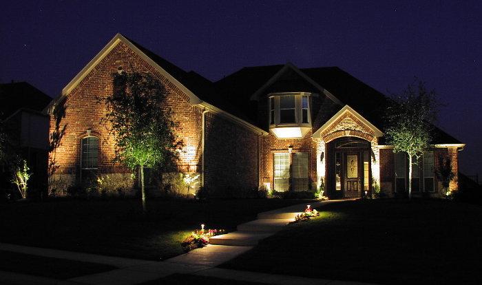 iluminatul gradinii