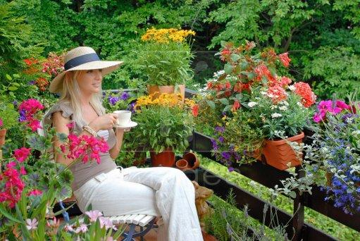 balcon cu flori