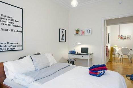dormitor apartament cu 2 camere
