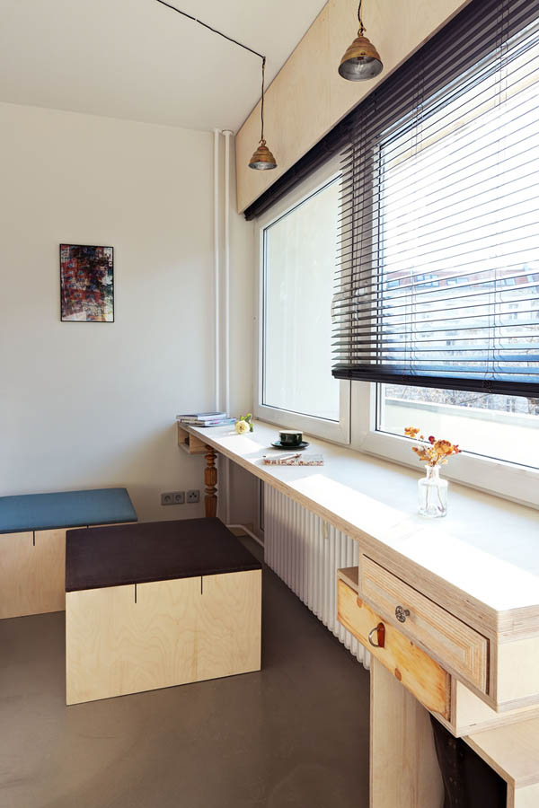 dormitor multi functional pe baza de lemn 2