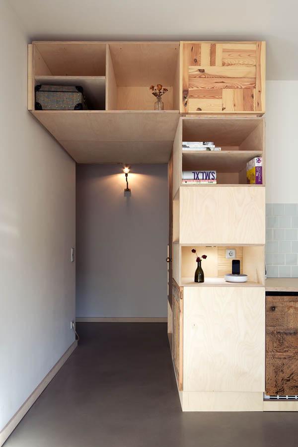 dormitor multi functional pe baza de lemn 3