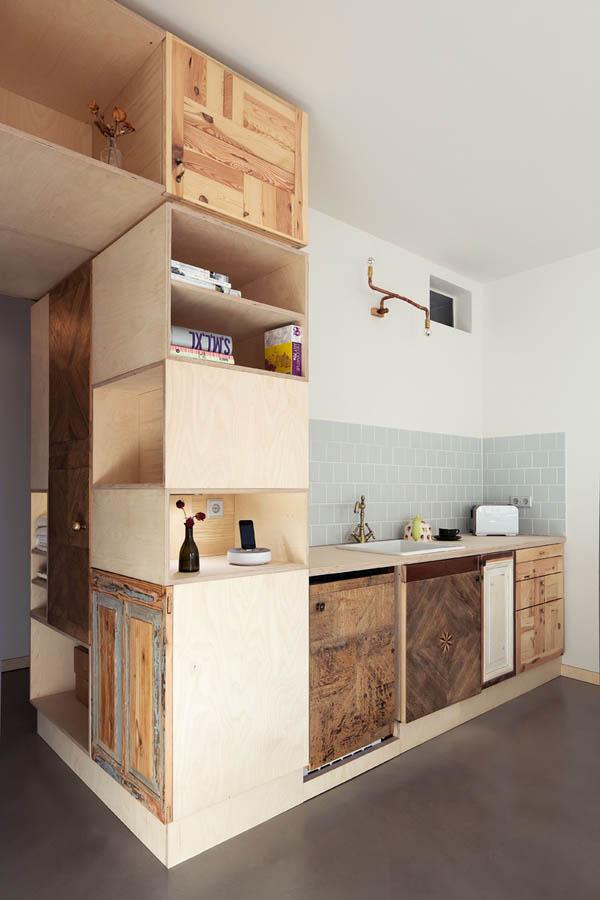 dormitor multi functional pe baza de lemn 4