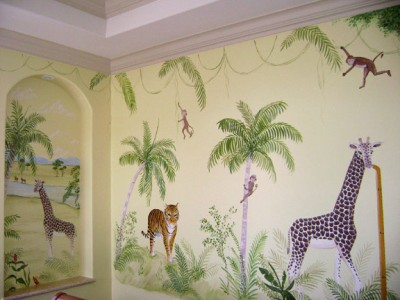 tapet cu animale pentru camera copii