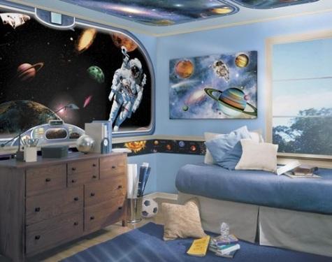 tapete copii cu astronauti