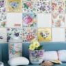 mozaic colorat materiale textile