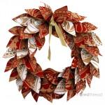 Decoratiuni de Craciun handmade: coronita din hartie