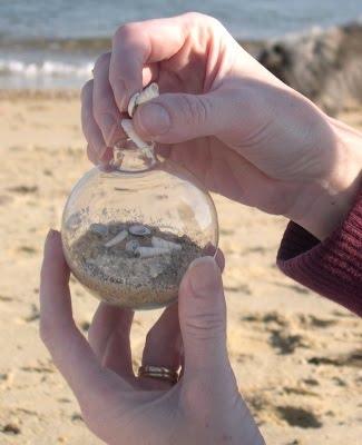 Decoratiuni de Craciun - Globulet cu nisip 2