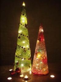 decoratiuni de craciun brad luminos handmade