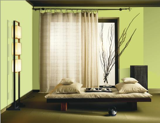 dormitor verde