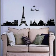 sticker perete i love paris