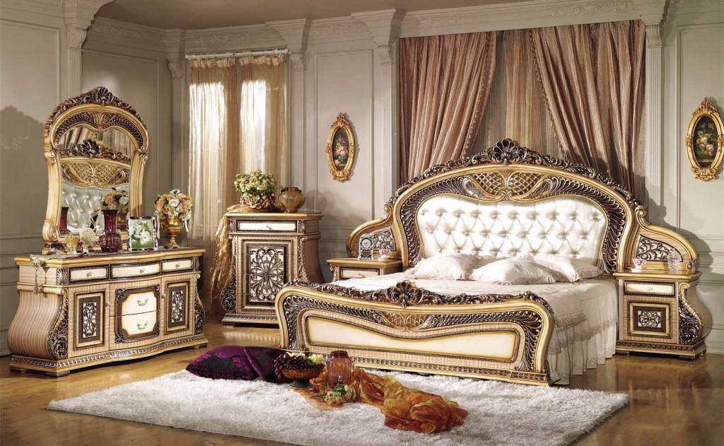 dormitor amenajat in stil clasic