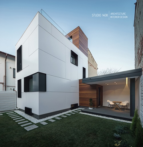 Modele de case si gradini lux din romania for Case minimaliste moderne