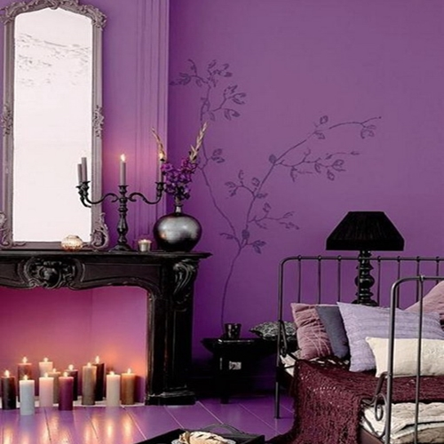 Beautiful-and-Romantic-Bedroom-Design-with-Purple-Decoration