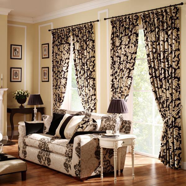 Black-Printed-Curtains